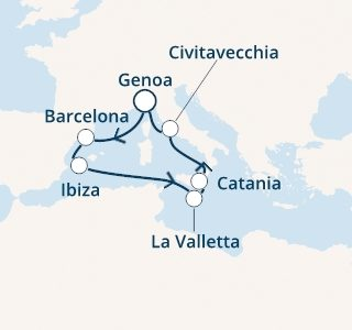 mapa costa pacifica baleari malta