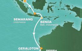 mapa azamara pursuit bali