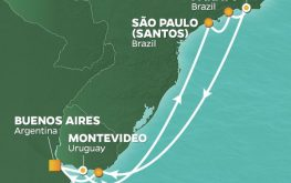 mapa azamara quest brazilija rio karneval