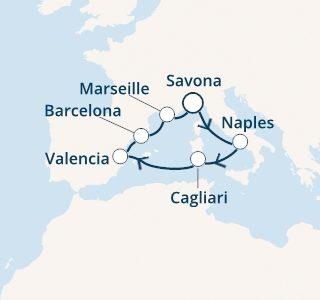 mapa costa diadema zahodno sredozemlje sardinija