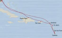 mapa riviera vzhodni karibi