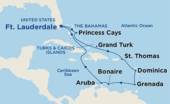 karibi mapa Royal Princess | CFC KRIŽARJENJA karibi mapa