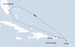 mapa vzhodni karibi celebrity edge