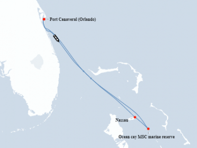 mapa bahami msc divina