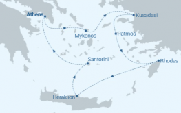mapa celestyal olympia grčija in turčija