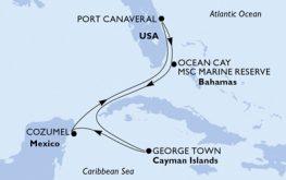 mapa_msc_seaside zahodni karibi iz fort laderdale