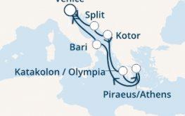 mapa costa deliziosa vzhodno sredozemlje