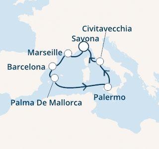 mapa costa smeralda zahodno sredozemlje