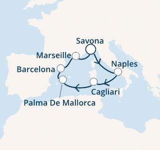 mapa costa toscana zahodno sredozemlje