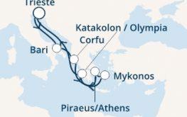 mapa costa luminosa vzhodno sredozemlje grčija