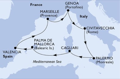 mapa_msc_seaview zahodno sredozemlje poletje21
