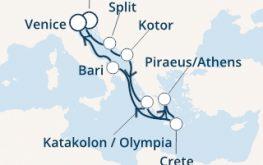 mapa costa deliziosa vzhodno sredozemlje novo leto