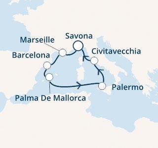 mapa costa toscana zahodno sredozemlje-baleari
