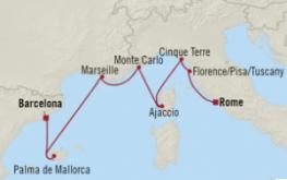 mapa riviera zahodno sredozemlje