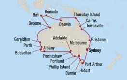 mapa okoli avstralije