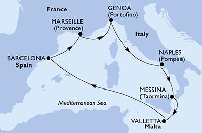 08-dni Zahodno Sredozemlje Malta msc world europa